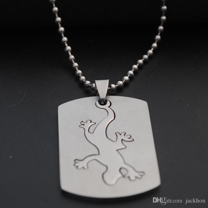 Нержавеющая сталь животных геккон очарование ожерелье ящерица Хамелеон ожерелье рептилия четвероногие змея кулон свитер съемный ожерелье