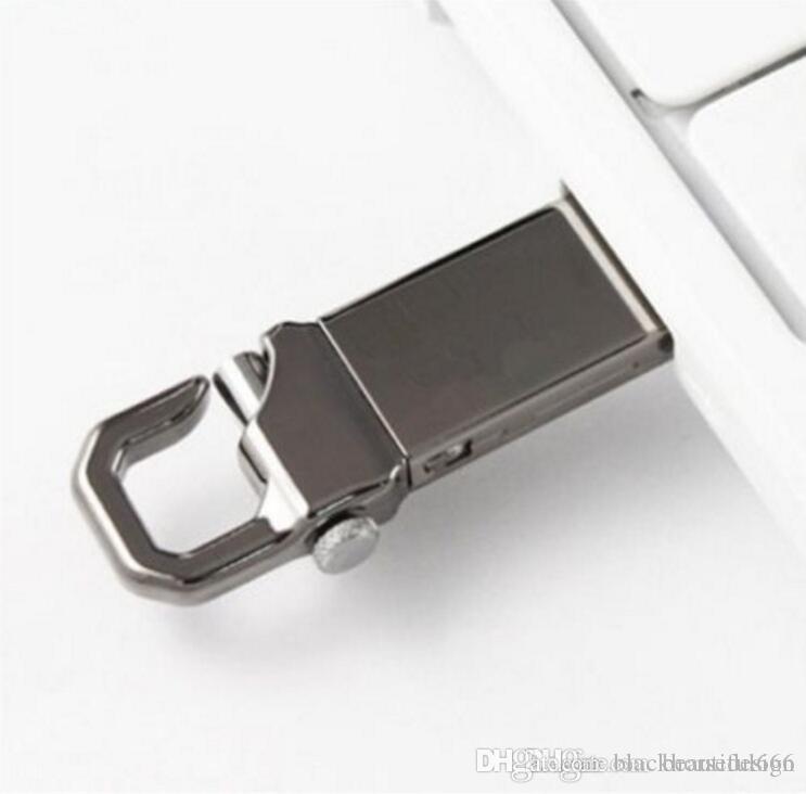 Flash Drive 100% di capienza reale del USB 2.0 USB del metallo con portachiavi ad alta velocità Memory Stick 32GB ~ 128GB
