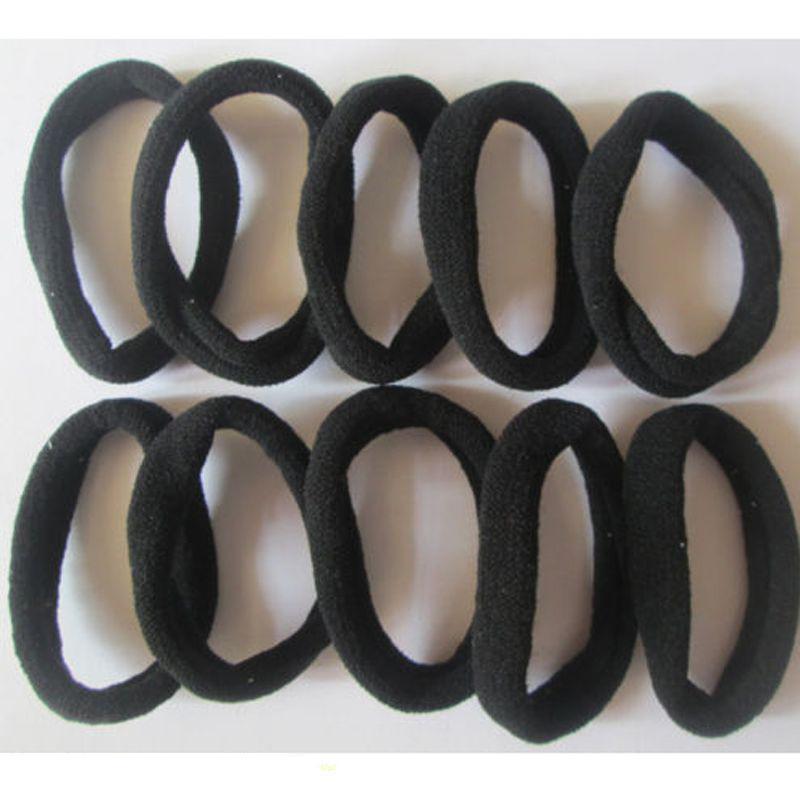 Hot Black 10 unids Niñas lazos elásticos del pelo sin costura banda de la cola de caballo pulseras hairband diadema accesorios para el cabello