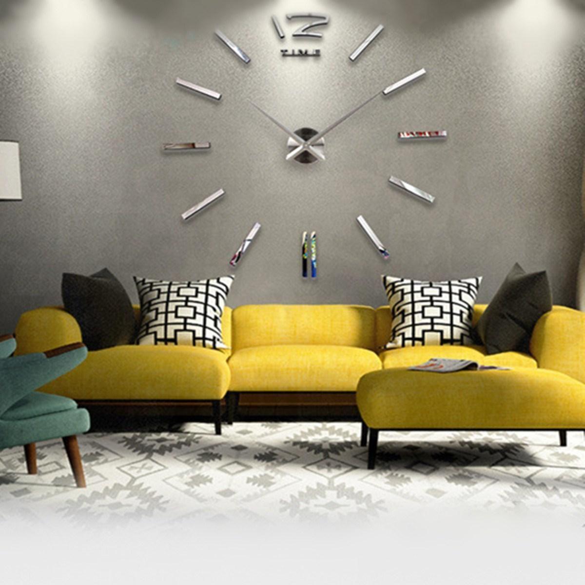 Acryl 3D DIY Spiegelfläche Wandaufkleber Uhr Tapeten Wandbilder Aufkleber Home Raumdekoration Moderne Kunst Decals
