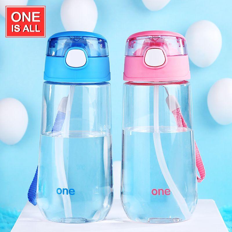 Oneday Sport Bottle 500ml kids Water Bottle with Straw children water Drinking Pot for Bottles Plastic Portable