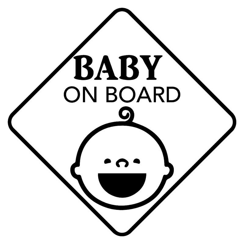 Baby On Board Baby'S Smile Vinyl Car Sticker Decal Cute And Interesting Fashion Sticker Decals