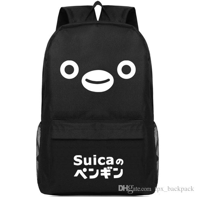 Suica Card Plecak ładne życie Day Pack Penguin Face Torba Szkolna Rozrywka Packsack Pure Color Plecak Sportowy Schoolbag Outdoor Daypack