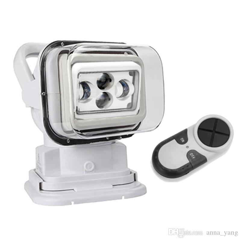 "1pc 7"" Control remoto 60W Led Reflector 4D 12v de 7 pulgadas del punto del trabajo del LED luz de búsqueda para el carro SUV marina del barco"