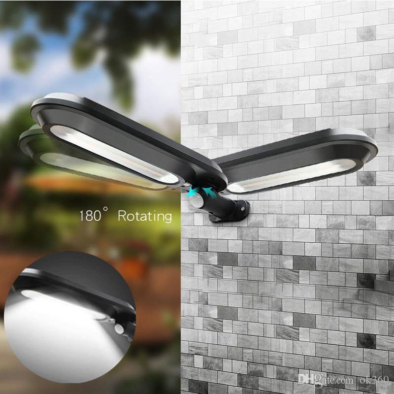 Solar Led Street Lamp Waterproof Paisagem Outdoor Jardim Luz Sensing Humano Led Solar Wall Light LED Poste