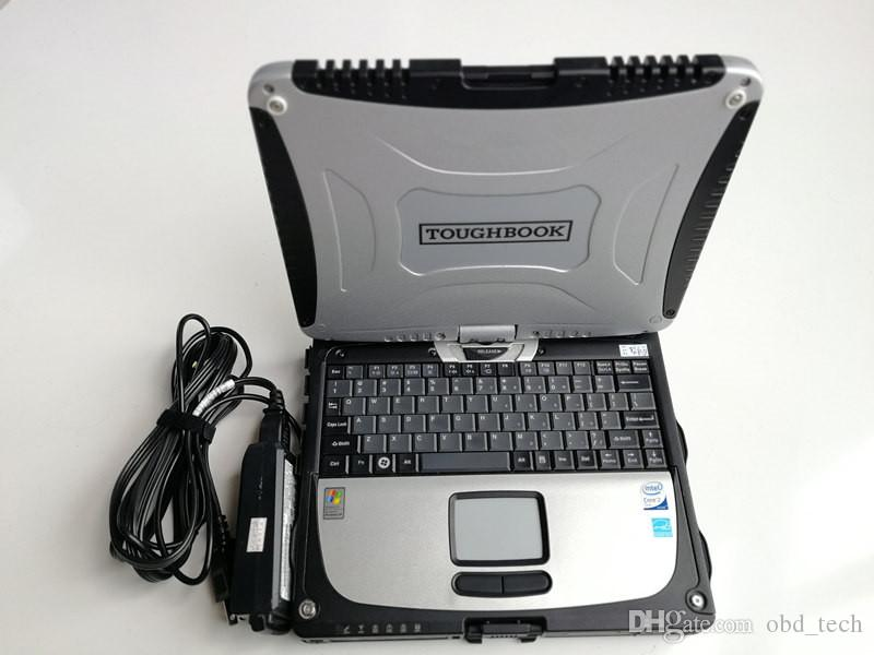 2019 Hot Vendas Para Promocional Super P-anasonic Toughbook CF 19 laptop sem HDD suporte mb estrela c3 c4 ferramentas
