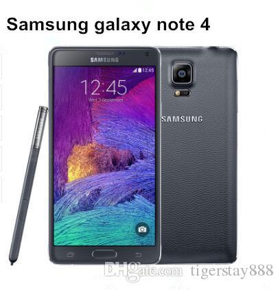 Горячая распродажа Samsung Galaxy Note 4 оригинальный разблокированный сотовый телефон с 16-мегапиксельной камерой 3 ГБ оперативной памяти и 32 ГБ Rom 3 г / 4 г отремонтированный телефон