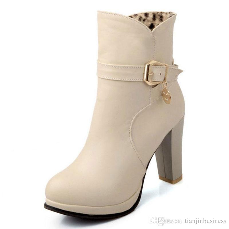 Size 31 43 Women High Heel Ankle Boots