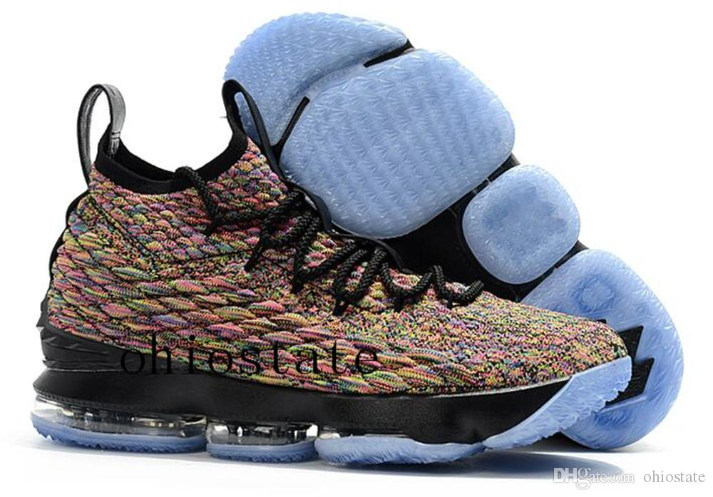 low priced 5e192 24803 2018 2018 New Lebron 15 Fruity Pebbles Basketball Shoes Men James 15 Orange  Box Baby Kids Maternity Baby First Walkers Size 7 12 From Ohiostate, $99.5  ...