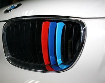 10 Set PVC Glue Sticker Car Front Grille Decorative cover trim Stripes for BMW M3 M5 X 6 e36
