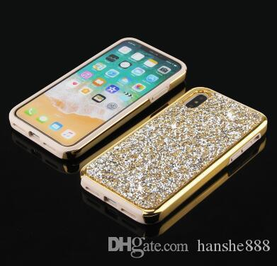 The new iPhonex two in one stick drill mobile phone shell anti-drop plating Samsung note9 Apple mobile phone accessories