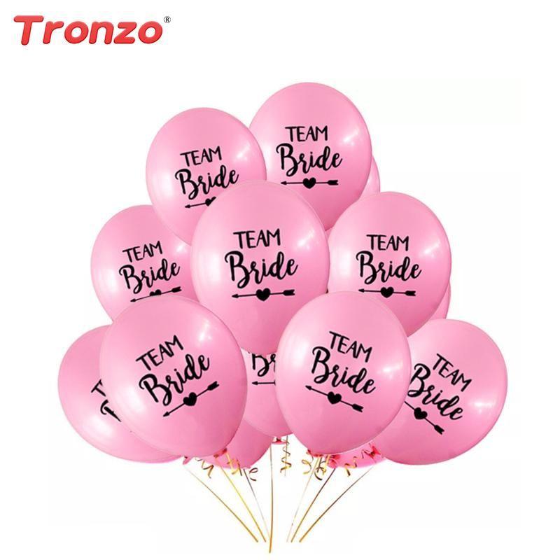 10pcs 12 pulgadas equipo novia globo de látex para el banquete de boda decoración encantadora Bachelorette Party Supplies