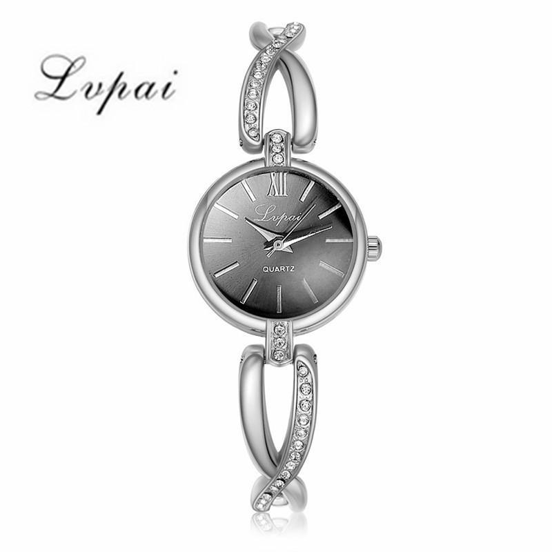 Damen Armband Kleider Mode-Kristall-Uhren Quarz-Uhren Lvpai Damen Strass Damen-Armbanduhr # 22.5