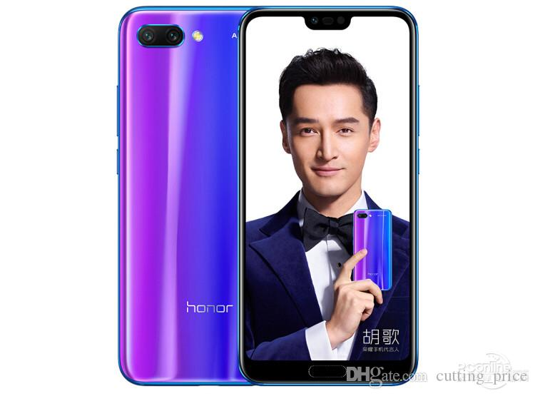 "Original Huawei Honor 10 4G LTE Mobile Phone 6GB RAM 64GB 128GB ROM Kirin 970 Octa Core Android 5.84"" Full Screen 24.0MP AR NFC 3400mAh Face ID Fingerprint Smart Cell Phone"