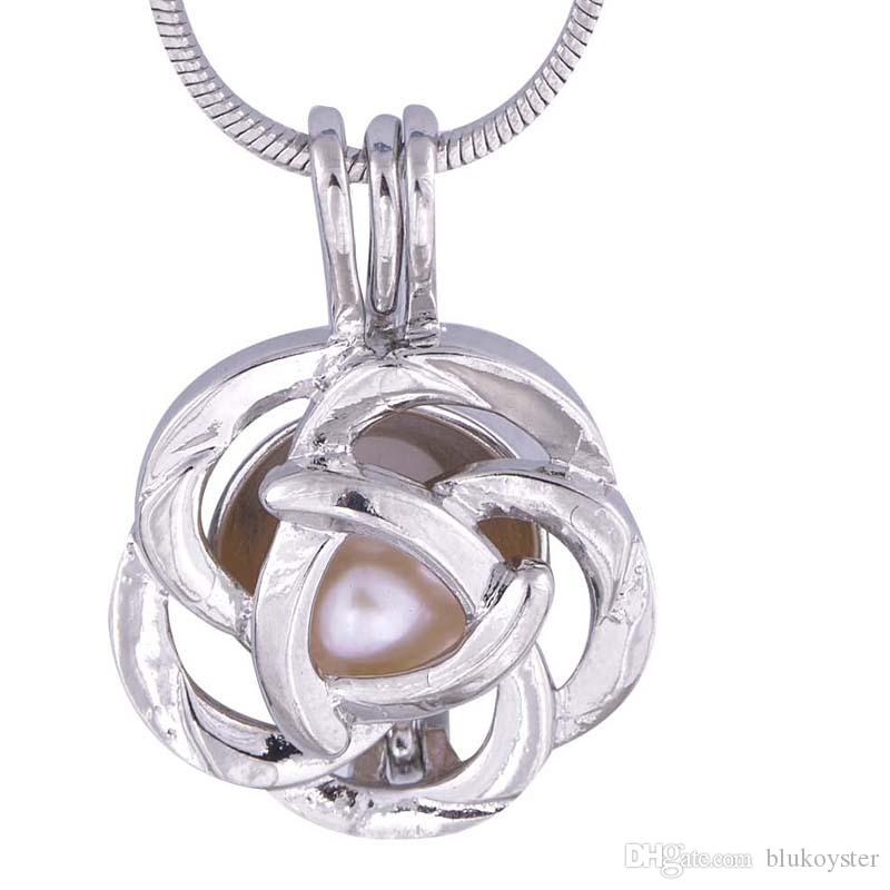 Silver Lockets Flower Mix Flower and Ball Shape Pearl flower ball Pendant pregnant mother gift P11