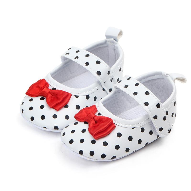 Nokta Bebek Bebe Ayakkabı İlk Yenidoğan Yumuşak Sole Ayakkabı Bowknot Bebekler Kız Prenses Ayakkabı yürüyüşe çıkaranlar