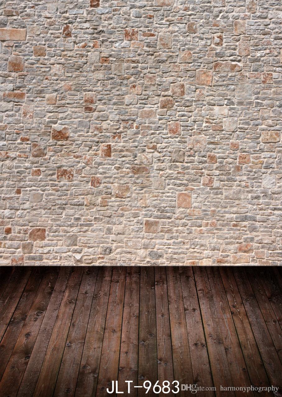 pared de ladrillo fondos de fotografía suelo de madera 3d fondos para estudio fotográfico de vinilo paño del bebé recién nacido ducha bebé fotófono