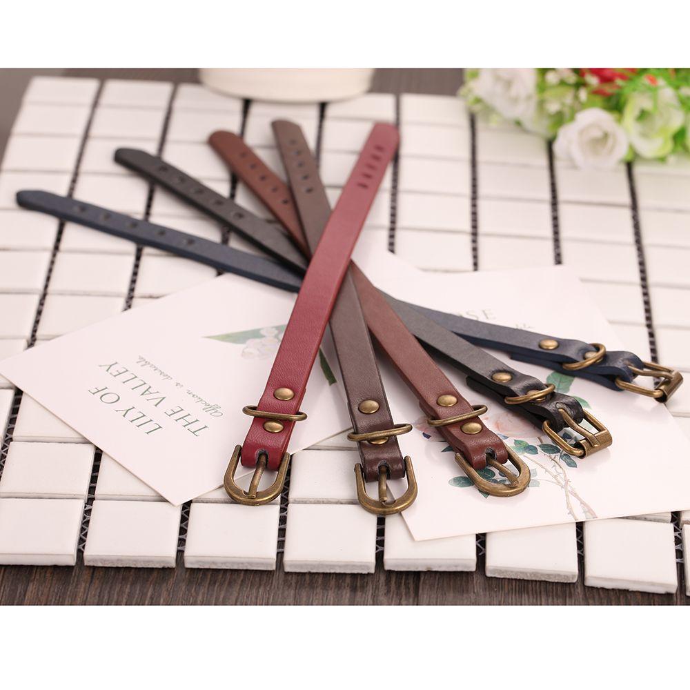 Simple Leather Bracelet Watches 5 Colors Wristband Bracelet Bangles For Women Men Couple Bracelets