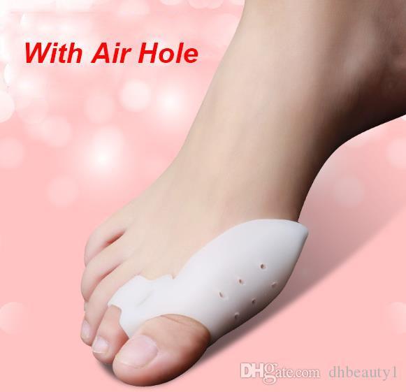 DHL Atualização Modelo Gel de Silicone dedos do pé Toe Separador Thumb Valgo Protetor Joanete ajustador Hallux Valgus Guarda cuidados com os pés