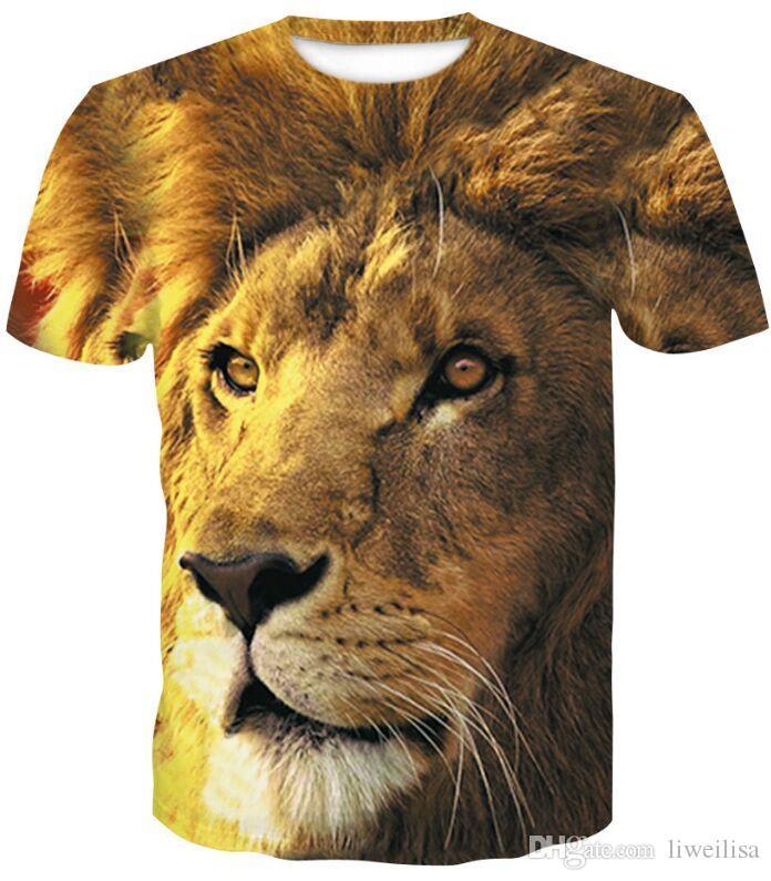 Drukuj Tygrys Najnowszy Harajuku Wilk 3D Print Cool T-Shirt Mężczyźni / Kobiety Lato Topy Tees T Shirt Moda T Koszulki M- 4XL