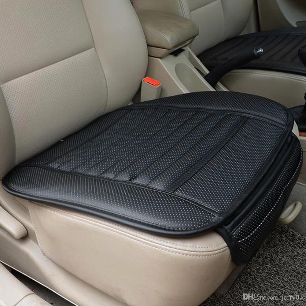 Tampa de Assento Do Carro de Couro PU Quatro Estações Anti Slip Mat Capa de Almofada Do Assento de Carro Acessórios Do Carro Universal car-styling