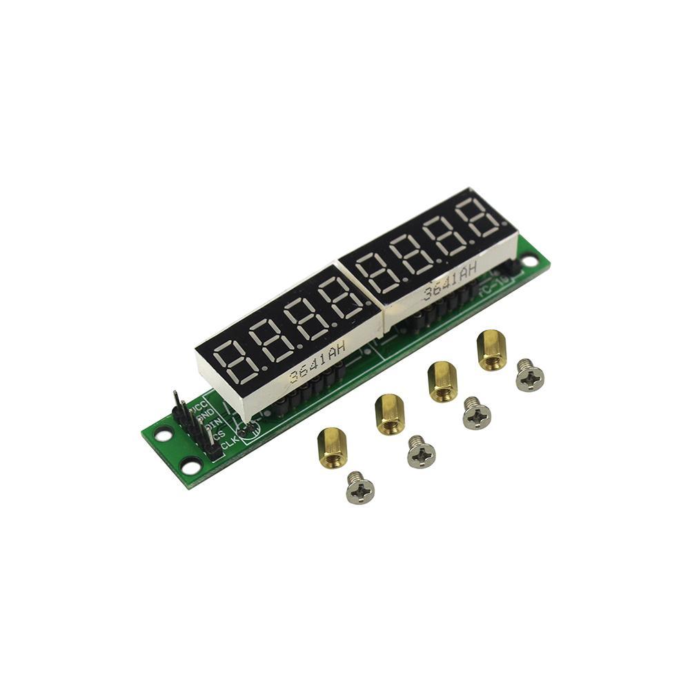 MAX7219 M/ódulo rojo Tubo de pantalla LED digital de 8 d/ígitos y 7 segmentos para Arduino MCU DIY KIT con tornillos