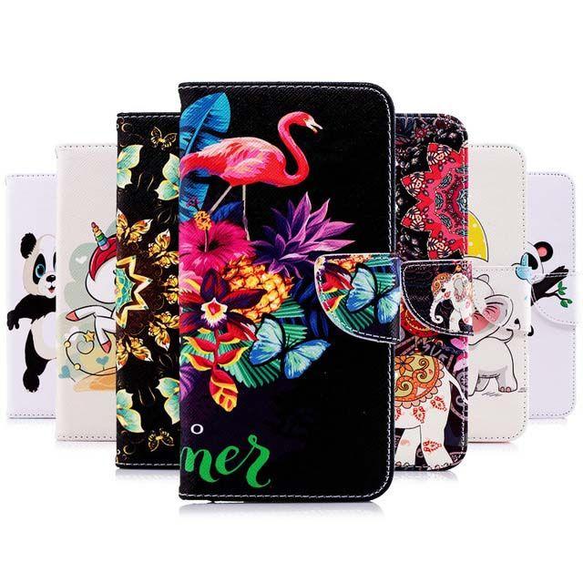 Unicorn Panda PU leather wallet with Kickstand and Flip Cover Case for Samsung A10 A20E A20/A30 A40 A50 A70 A6 A7 A8 2018 Plus