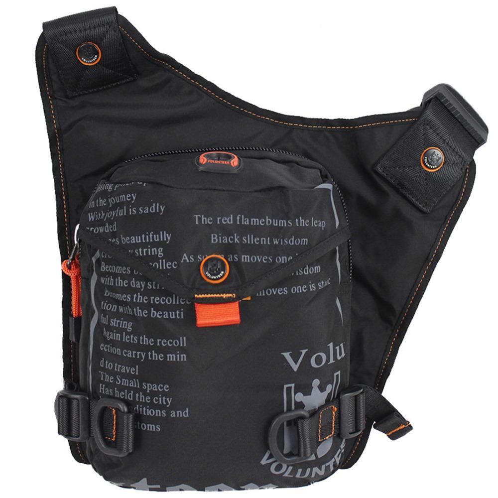 دراجة نارية ركوب الرجال نايلون / ماء أكسفورد ركوب الساق الخصر حزمة إسقاط جودة عالية الورك رسول حقيبة فاني حقيبة