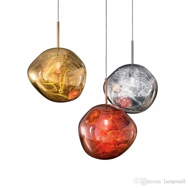 Retro  Melt Glass//Electroplating chandelier Lava Pendant Lights Dinning Room