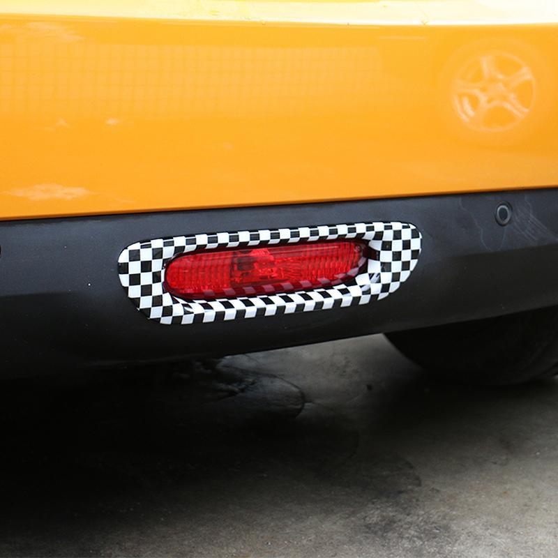 Moligh doll Auto Nebel Scheinwerfer Dekorations Rahmen Au?En Lampen Abdeckung Styling Zubeh?R Schutz Aufkleber f/ür Mercedes Smart Fortwo 453