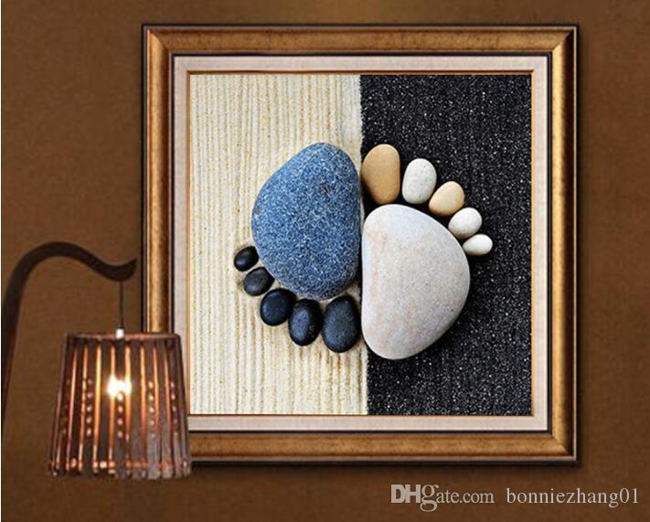 5d اليدويه الماس اللوحة عبر غرزة الماس الكامل التطريز الفن حجر البصمة جدار ديكور المنزل 40 * 40 سنتيمتر