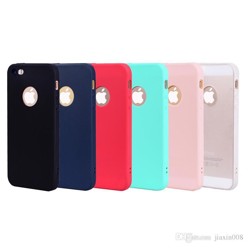 ل iPhone 5S SE حالة الغطاء الخلفي لينة TPU كاندي اللون سلسلة سامسونج مصمم Mobie Phone Case Capinha