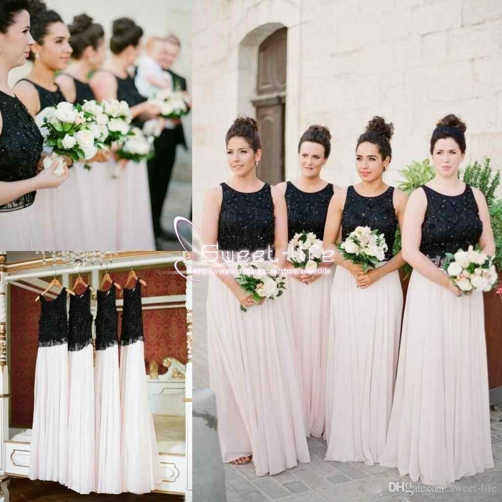 Mixed Color 2018 Bridesmaid Dresses Beading Chiffon Floor Length Long Bridesmaid Dress Newest Flowy Chiffon Party Wedding Guest Dresses Watters