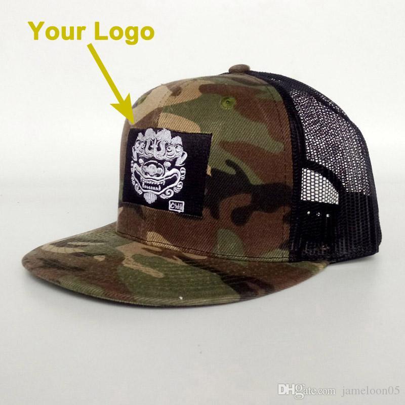 Düz vizör çocuk güneş kap büyükçe özelleştirilebilir trucker şapka snapback yakın özel beyzbol şapkaları özel cap mesh geri