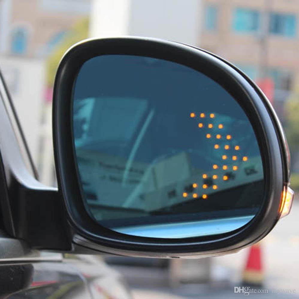 زاوية برية زرقاء أدت بدوره إشارة السهم التدفئة الجانب مرآة الرؤية الخلفية لفولكس واجن فولكس واجن تيغوان مرآة الرؤية الخلفية