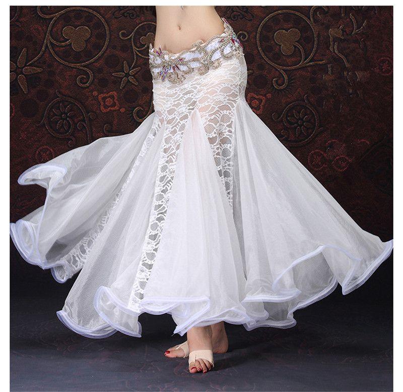 molto carino e71f1 7aef4 Acquista Nuove Gonne Lunghe Lunghe Sexy Di Cucitura Del Pizzo Donne Gonna  Di Prestazione Di Danza Del Ventre Professionale Flamenco Vestiti Di  Pratica ...