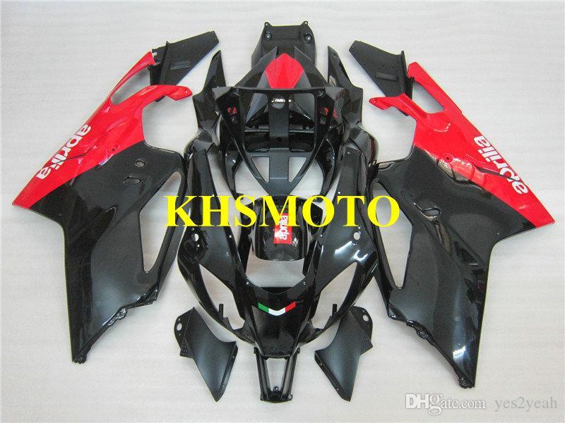 Kit carénage de moto pour Aprilia RSv1000r 04 05 06 RSV 1000 2004 2005 2006 ABS Noir brillant Set de carénages AA08