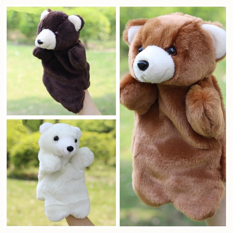 Sıcak Satış Çocuk Dolması Oyuncak Teddy Bear Peluş El Kukla Çocuk Bebek Peluş Bebek Kuklaları Oyuncaklar Noel Doğum Günü Hediye