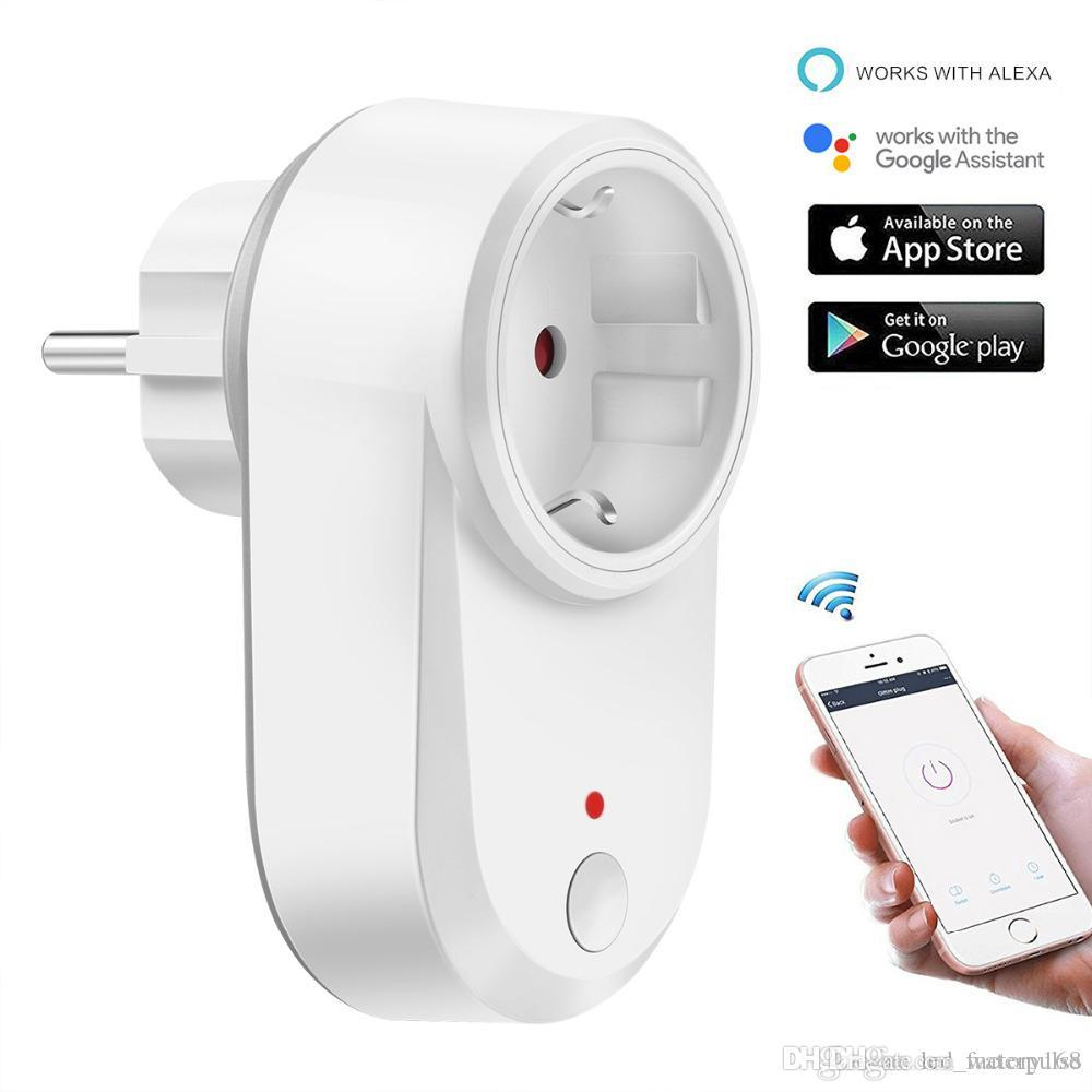 Alexa Echo Smart WiFi Plug Compatible with GoogleHome IFTTT No Hub Required Wifi enabled Smart Socket Control your Devices from Anywhere
