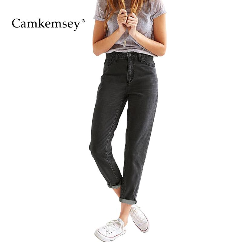 più alla moda caratteristiche eccezionali scarpe da skate Acquista Camkemsey 3XL Plus Size Boyfriend Jeans Larghi Eterosessuali Donna  Jeans Neri A Vita Alta 100% Cotton Casual Mom Denim Pants A $38.25 Dal ...