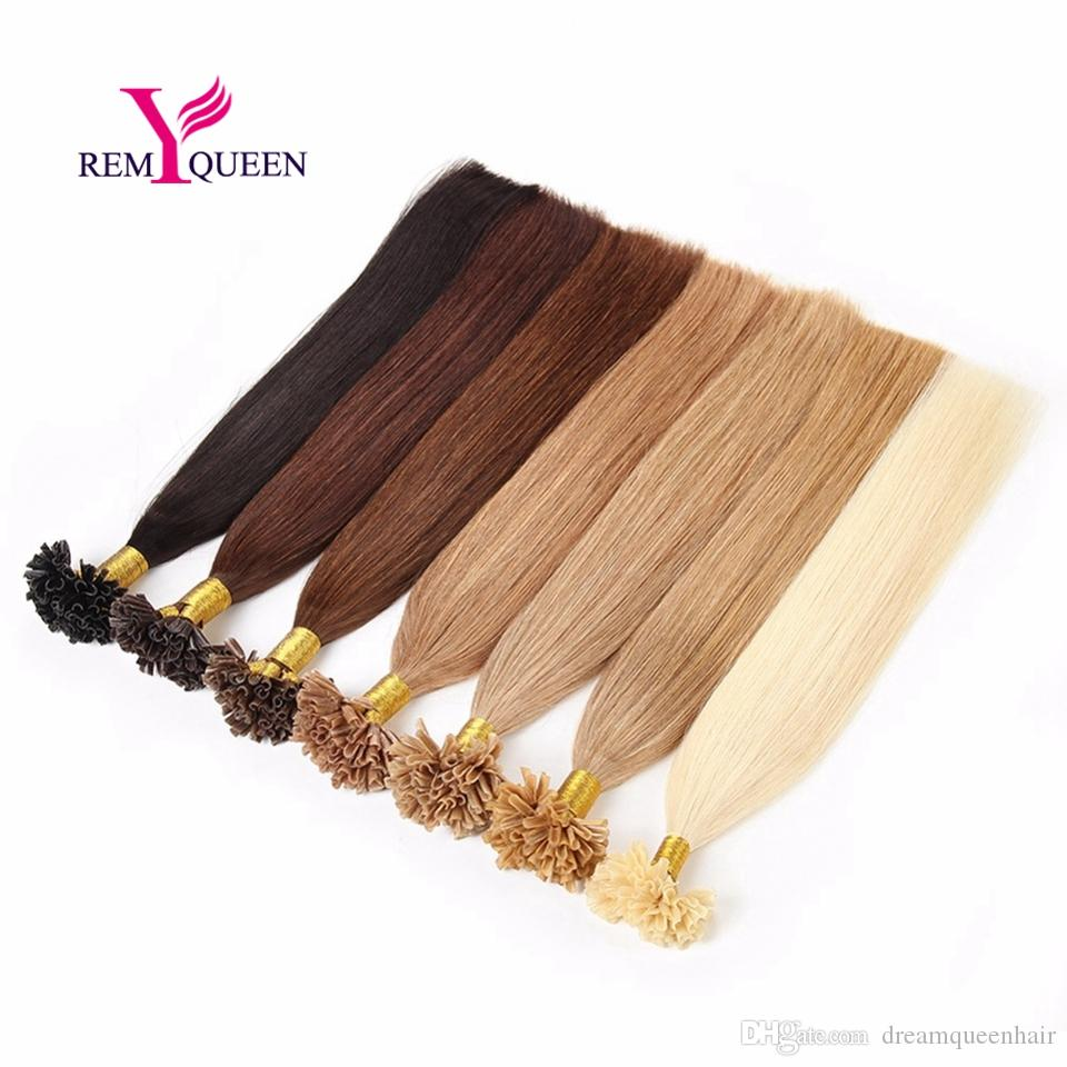 Dream Remy Queen 100% Human Hair Extensions U Tip Hair 1g per stand for salon hairstylist Option color hair extension