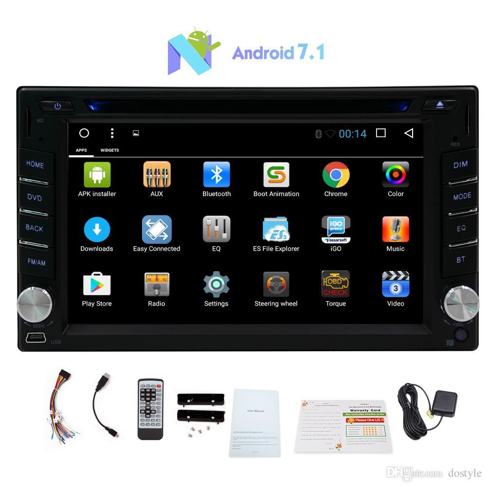 Eincar 6.2 '' In Dash Car Reproductor de DVD Android 7.1 2G RAM + 32G ROM Sistema estéreo GPS del sistema de navegación GPS Bluetooth / USB / WIFI / 1080P