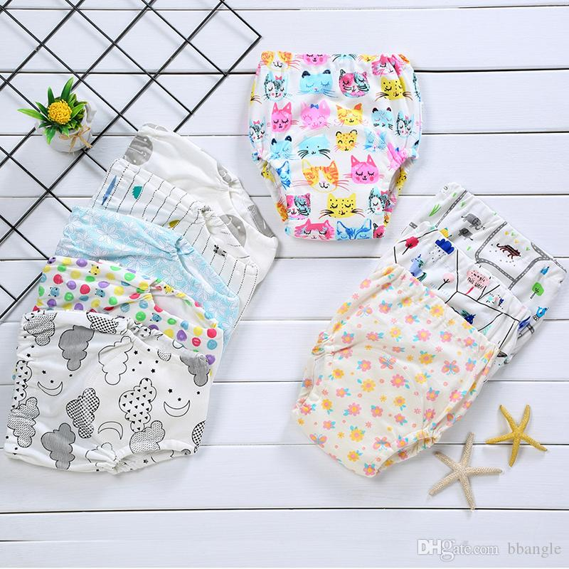 Baby Cotton Training Pants Reusable Cloth Diaper Washable Nappies Boy Girl Infants Diapers Multi Colors Wholesale