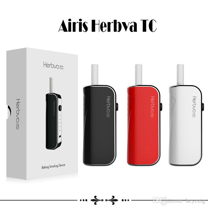 Airis Herbva TC Starter Kits Dry Herb Vaporizer 1200mAh Battery Ecig Baking Device Smoking Portable Kit With Ceramic Coil Authentic