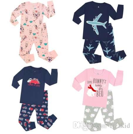 TINOLULING 100 cotton boys girls pajamas sets kids pajama children sleepwear toddler baby pyjamas pijamas pjs for 1-7 years