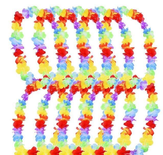500pcs / серия Hawaiina лея для вечеринок Garland ожерелье Красочные Fancy платье партии Гавайи Fun