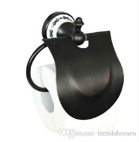 Black Oil Rubbed Brass Wall Mounted Bathroom Toilet Paper Roll Holders Cba058