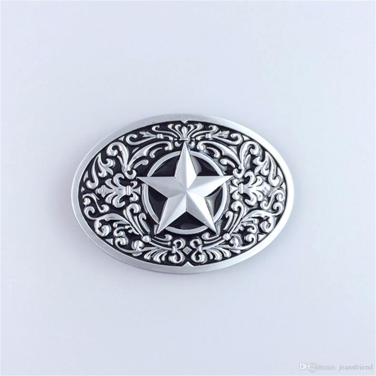 Flower Star Western Metal Fashion Belt Buckle