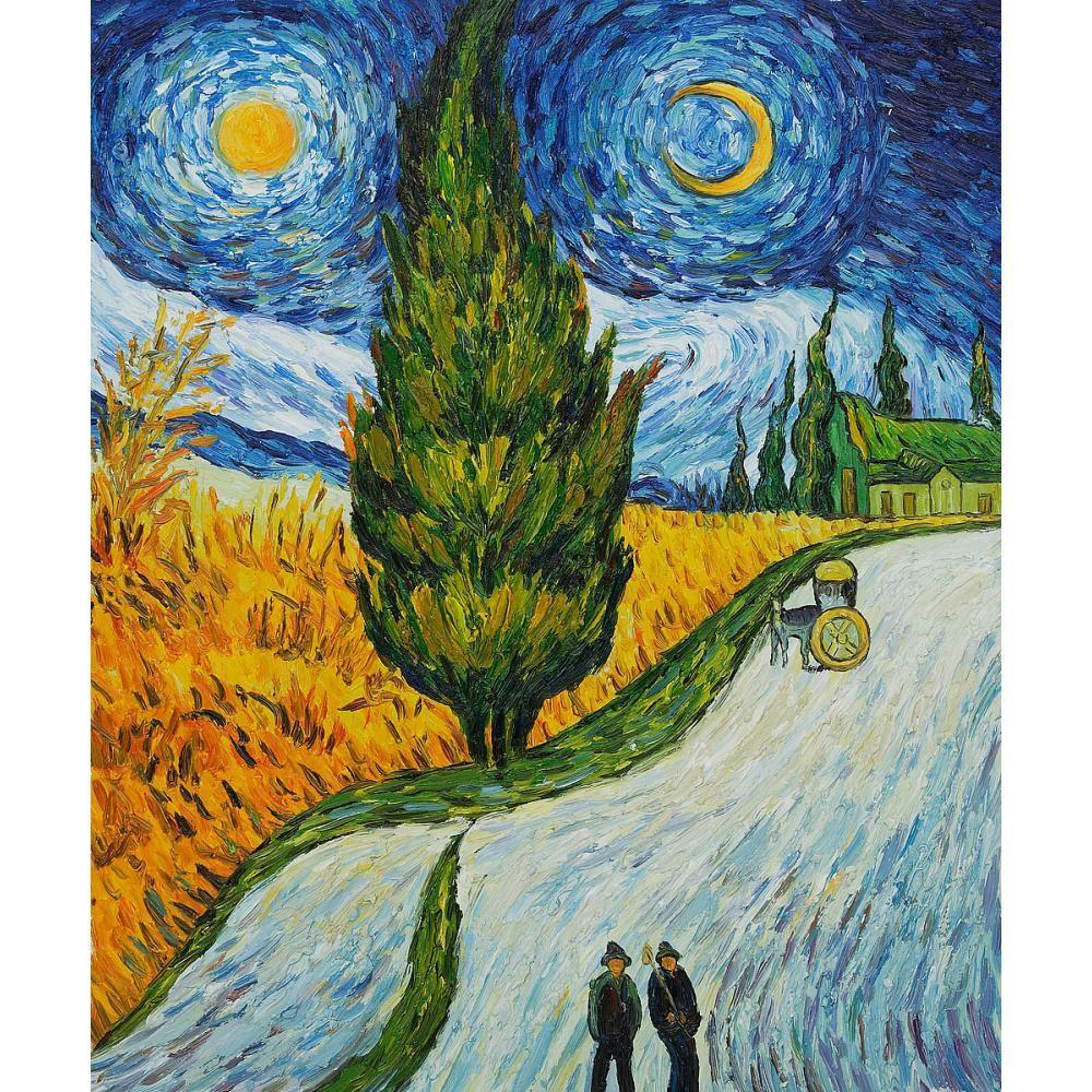Immagini Belle Da Dipingere acquista dipinto di belle arti di vincent van gogh road con cypress e star  opere darte impressionista su tela larredamento della camera a 72,56 € dal