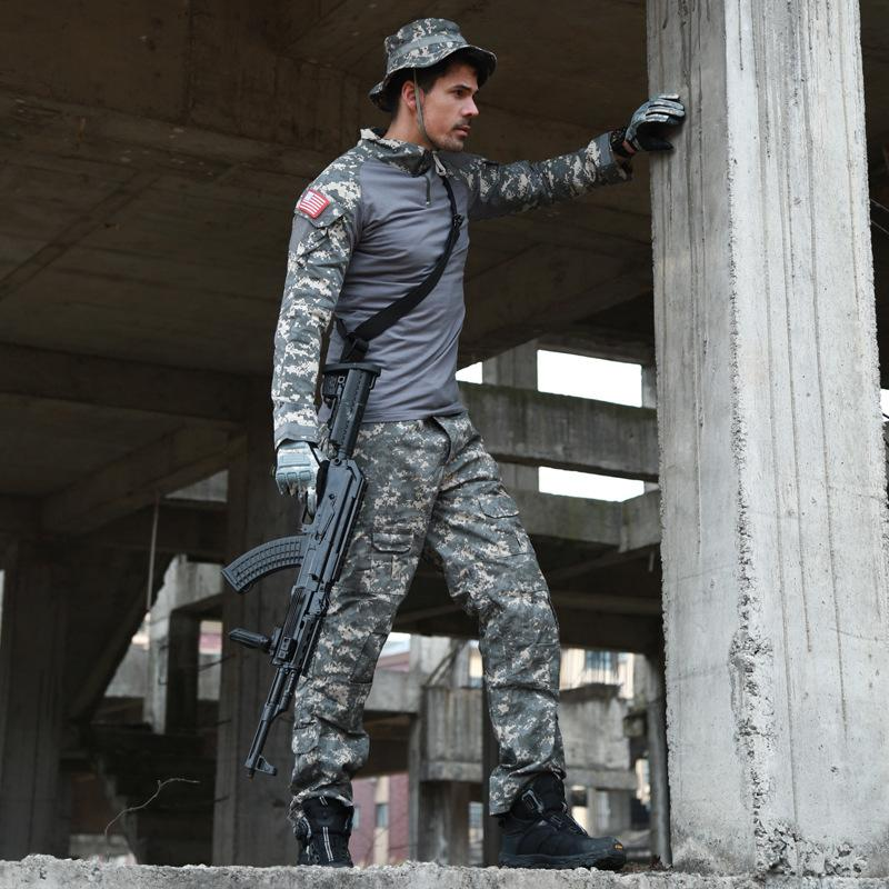 Cck التكتيكية التمويه موحدة الملابس تناسب الرجال متعددة حدبة الجيش الأمريكي الصيد القتالية قميص + السراويل البضائع